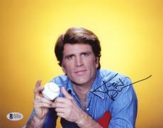 "Ted Danson Autographed 8""x 10"" Cheers Holding Baseball Photograph - BAS COA"