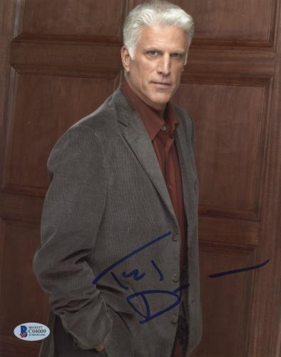"""Ted Danson Autographed 8""""x 10"""" CSI: Cyber Posed Photograph With Blue Ink - BAS COA"""