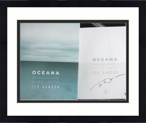 Ted Danson Cheers Actor signed book Oceana BAS Beckett 1st Print Edition