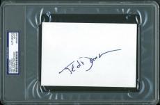 Ted Danson Signed 4X6 Index Card Autographed PSA/DNA Slabbed