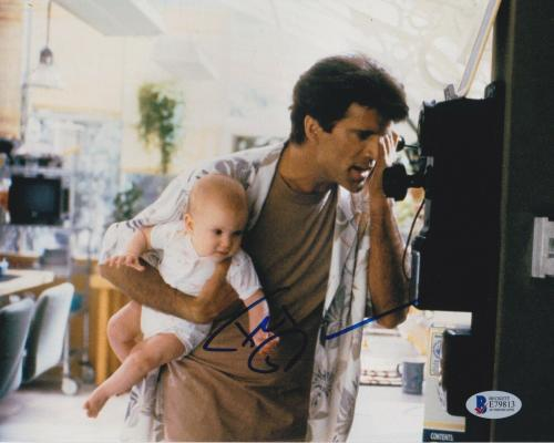 Ted Danson Signed 8x10 Photo Three Men Cheers Beckett Bas Autograph Coa Auto