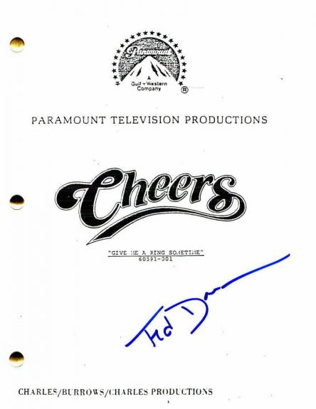 Ted Danson Signed Autograph - Cheers Pilot Script Woody Harrleson, Kirstie Alley