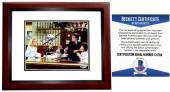 Ted Danson Signed - Autographed CHEERS - Sam Malone 8x10 inch Photo MAHOGANY CUSTOM FRAME - Beckett BAS Certificate of Authenticity (COA) Not PSA JSA