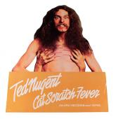 Ted Nugent 1977 Cat Scratch Fever Promo store stand up display AFTAL