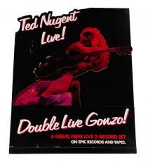 Ted Nugent 1978 Double Live Gonzo Promo store Stand Up display AFTAL