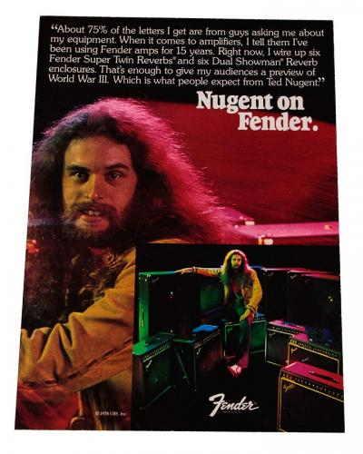 Ted Nugent 1978 Fender Amplifier store Stand Up display from him AFTAL