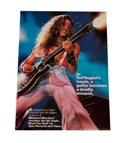 Ted Nugent 1978 Weekend Warriors LP Album Counter Display AFTAL