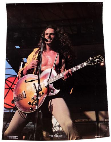 Ted Nugent 1980 Original Live Concert Promo 20x28 Poster AFTAL