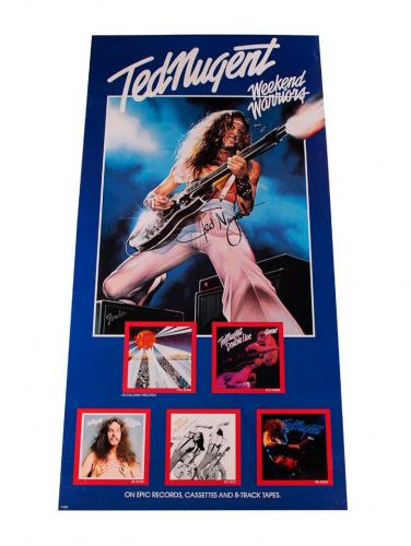 Ted Nugent Autographed 1978 Weekend Warriors Store Display AFTAL