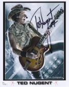 TED NUGENT AUTOGRAPHED 8x10 COLOR PHOTO         CAT SCRATCH FEVER         JSA