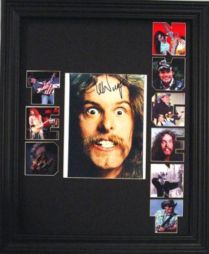 TED NUGENT Framed 1 OF A KIND  SIGNED Photo Display    AFTAL