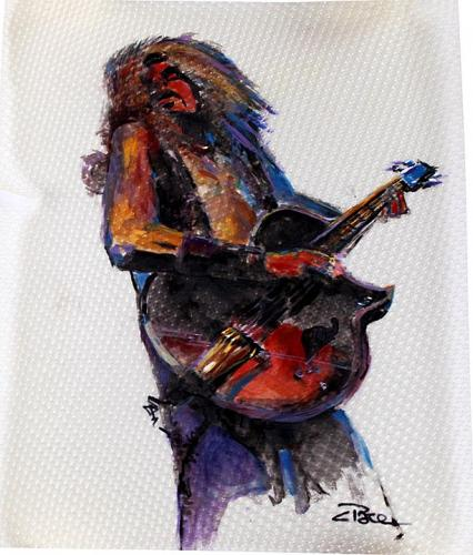 Ted Nugent Rare Charles Pace Painting From his Personal Collecti AFTAL