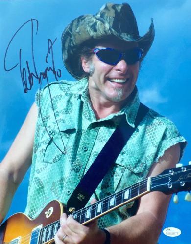 Ted Nugent Signed 11x14 Photo Jsa
