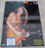 Ted Nugent Signed Autographed 1982 Tour Program 14x18.5 Poster Beckett Certified