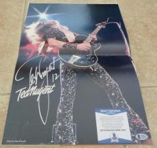 Ted Nugent Signed Autographed TNT Tour Program 12x18 Poster Beckett Certified