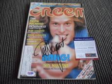 Ted Nugent Signed Autographed Vintage 1979 Creem Magazine Photo PSA Certified