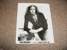 Ted Nugent Signed Autographed Vintage 8x10 Photo TNT