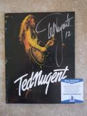 Ted Nugent Signed Autographed Vintage TNT Tour Program Photo Beckett Certified