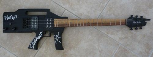 Ted Nugent Signed Gun Guitar W/ Free For All Title & Sketch PSA BAS Guaranteed