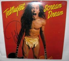 Ted Nugent Signed 'scream Dream' Album Cover Autograph Jsa Coa