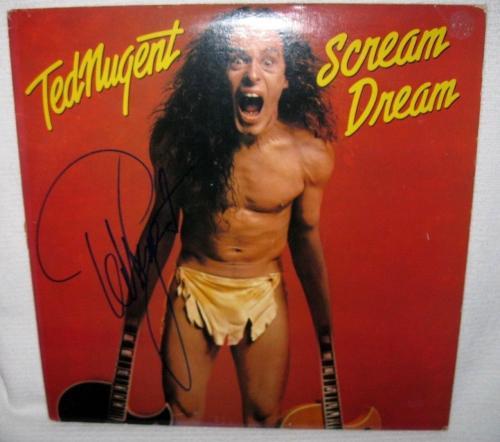 Ted Nugent Signed 'scream Dream' Album Cover Autograph Jsa Coa