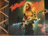 Ted Nugent Signed State Of Shock Lp Album Autographed