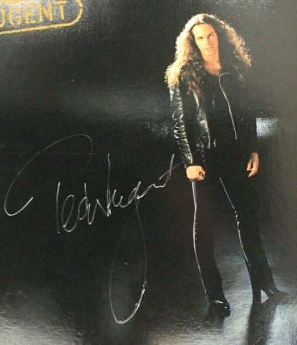 "Ted Nugent ""the Nuge"" 1982 NUGENT Autographed Signed Album Cover JSA COA X"