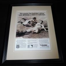 Ted Williams 1988 The Equitable Framed 11x14 ORIGINAL Vintage Advertisement
