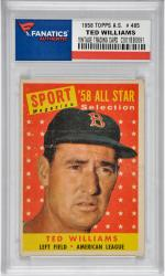 Ted Williams Boston Red Sox 1958 Topps A.S. #485 Card