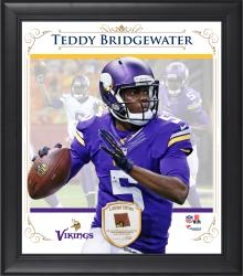 "Teddy Bridgewater Minnesota Vikings Framed 15"" x 17"" Composite Collage with Piece of Game-Used Football"