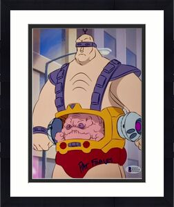 Teenage Mutant Ninja Turtles PAT FRALEY signed Krang 8x10 Photo BAS Beckett COA