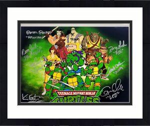 Teenage Mutant Ninja Turtles TMNT Cast (8) Signed 11x14 Photo ~ Beckett BAS COA