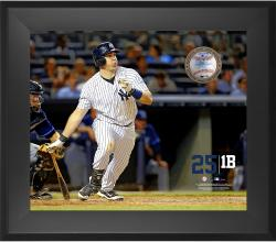 "Mark Teixeira New York Yankees Framed 20"" x 24"" Gamebreaker Photograph with Game-Used Ball"