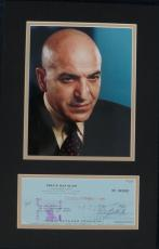 Telly Savalas Signed Kojak Autographed Check Matted w/Photo PSA/DNA #B78779