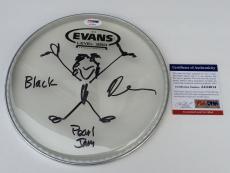 "TEN!!! Dave Krusen PEARL JAM Signed Evans 8"" DRUMHEAD W/ Sketch #2 PSA/DNA Proof"