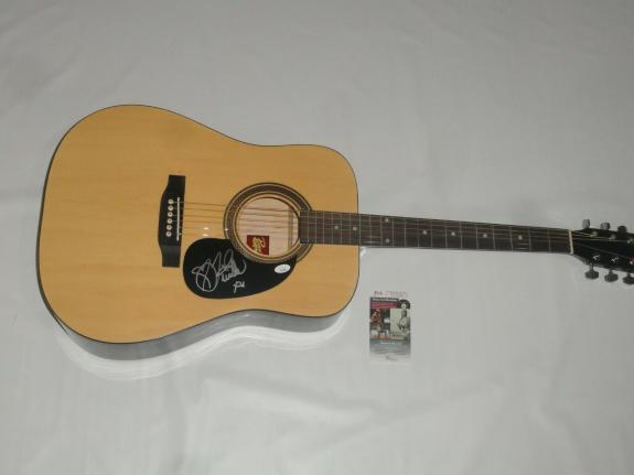 Tenille Townes Signed Natural Acoustic Guitar Country Star Psa Coa