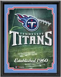"Tennessee Titans Team Logo Sublimated 10.5"" x 13"" Plaque - Mounted Memories"