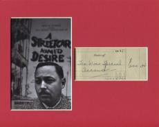 Tennessee Williams A Streetcar Named Desire Rare Signed Autograph Photo Display