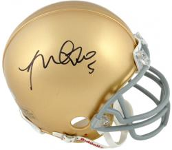 Manti Te'o Notre Dame Fighting Irish Autographed Riddell Mini Helmet - Mounted Memories