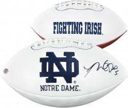 Manti Te'o Notre Dame Fighting Irish Autographed White Panel Pro Football - Mounted Memories