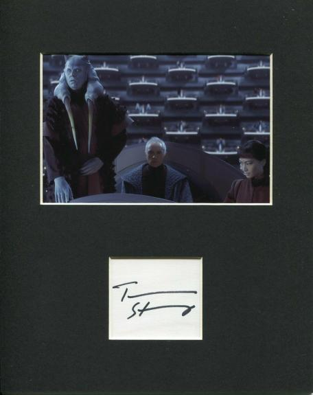 Terence Stamp Star Wars Chancellor Valorum Rare Signed Autograph Photo Display