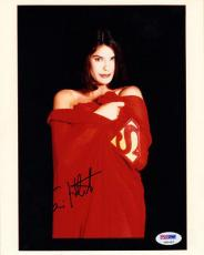 TERI HATCHER SIGNED AUTOGRAPHED 8x10 PHOTO SUPERMAN PSA/DNA