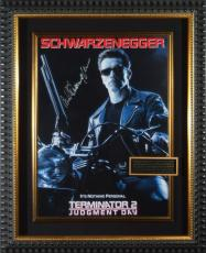 Terminator 2 Arnold Schwarzenegger Signed Poster Framed Disp