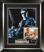 Terminator Arnold Schwarzenegger Signed Poster Framed