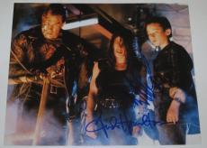 Terminator Edward Furlong Linda Hamilton Signed 8x10 Photo Autograph Coa