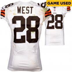 Terrance West Cleveland Browns White Game-Used Jersey September 7, 2014 vs. Pittsburgh Steelers