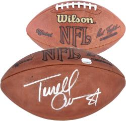 Dallas Cowboys Terrell Owens Autographed Football - Mounted Memories