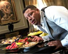 Terrence Howard Autographed 8x10 Dining Death Photo UACC RD AFTAL COA