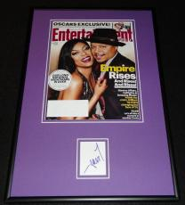 Terrence Howard Signed Framed 2015 Empire Entertainment Weekly Cover Display