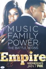 Terrence Howard & Taraji P. Henson Signed Empire Auto 12x18 Photo PSA/DNA X79903